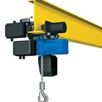 Wciągnik łańcuchowy PODEM serii CLN z elektrycznym napędem jazdy.