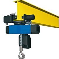 Wciągnik łańcuchowy PODEM serii CLW z elektrycznym napędem jazdy.